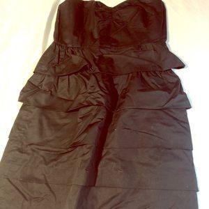 Jcrew black tiered dress